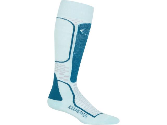 Icebreaker Ski+ Light Calcetines OTC Mujer, dew-smoke-kingfisher